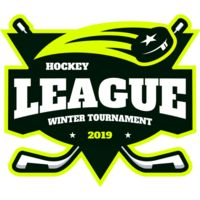 League Hockey Winter Tournament logo template Thumbnail