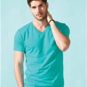 Premium Short Sleeve Fitted V-Neck T-Shirt Thumbnail