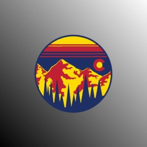 Colorado sticker. Colorado Sunset CO Forest Mountains. Car Bumper Sticker, Window Sticker, Laptop, P Thumbnail