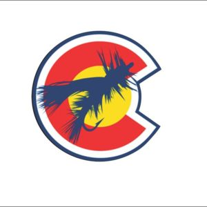 Fly Fishing Bait Colorado Flag Car Bumper Sticker, Window Sticker, Laptop, Phone Case High Quality V Thumbnail