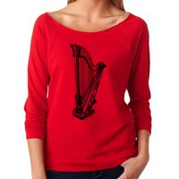 Next Level The Terry Raw-Edge 3/4-Sleeve Raglan Thumbnail